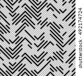 seamless chaotic zig zag... | Shutterstock .eps vector #492174724