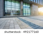 office building entrance with... | Shutterstock . vector #492177160