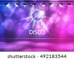 disco ball abstract background | Shutterstock .eps vector #492183544
