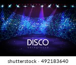 disco abstract background | Shutterstock .eps vector #492183640