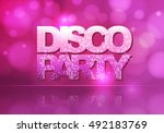 disco abstract background | Shutterstock .eps vector #492183769