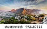 table mountain sunset | Shutterstock . vector #492187513