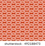 parallel rounded weave lines... | Shutterstock .eps vector #492188473