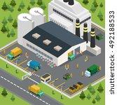 flat isometric waste... | Shutterstock .eps vector #492188533