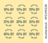 a set of nine labels discounts... | Shutterstock .eps vector #492190228