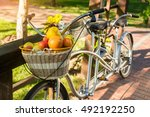 Basket Of Fruits On Bicycle....