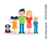 young parents flat vector... | Shutterstock .eps vector #492192280