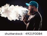 men with beard  in sunglasses... | Shutterstock . vector #492193084