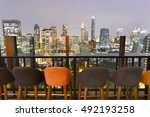 bangkok city view point from... | Shutterstock . vector #492193258