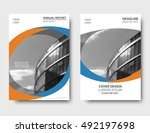 color annual report cover ... | Shutterstock .eps vector #492197698