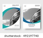vector annual report cover ... | Shutterstock .eps vector #492197740