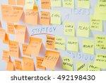 brainstorming brainstorm... | Shutterstock . vector #492198430