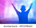 charismatic disc jockey. club ... | Shutterstock . vector #492198463