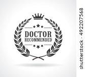 doctor recommended laurel... | Shutterstock .eps vector #492207568