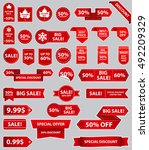 set of sale tags with text  ... | Shutterstock .eps vector #492209329