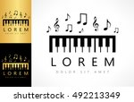 piano key logo | Shutterstock .eps vector #492213349