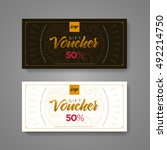 gift voucher design template.... | Shutterstock .eps vector #492214750