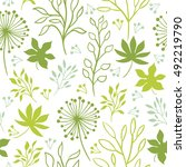 seamless pattern  flowers and... | Shutterstock .eps vector #492219790