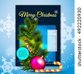 christmas  card  candy   Shutterstock .eps vector #492220930