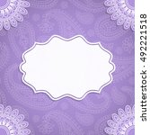 frame in indian style on a... | Shutterstock .eps vector #492221518
