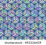 volleyball pattern 4   seamless ... | Shutterstock .eps vector #492226429