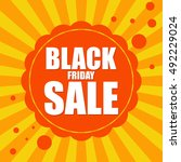 black friday sale background on ... | Shutterstock .eps vector #492229024