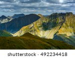 landscape with mountain peaks... | Shutterstock . vector #492234418
