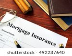 mortgage insurance policy with...   Shutterstock . vector #492237640
