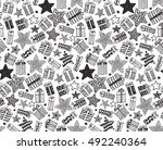 vector seamless pattern with... | Shutterstock .eps vector #492240364