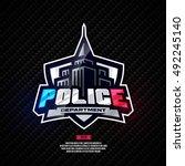 modern professional police... | Shutterstock .eps vector #492245140