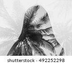 double exposure portrait of... | Shutterstock . vector #492252298