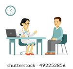 medicine concept with... | Shutterstock .eps vector #492252856