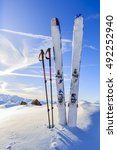 ski in winter season  mountains ... | Shutterstock . vector #492252940