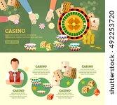 casino infographics playing... | Shutterstock .eps vector #492253720