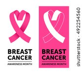 breast cancer awareness month... | Shutterstock .eps vector #492254560