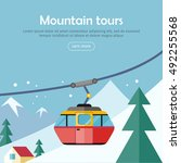 mountain tours conceptual web... | Shutterstock .eps vector #492255568