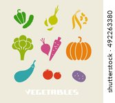 color vegetables icon. food... | Shutterstock . vector #492263380