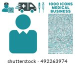 client icon with 1000 medical... | Shutterstock .eps vector #492263974