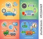 flat design future of... | Shutterstock .eps vector #492264469