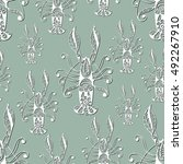 seamless pattern  texture  with ...   Shutterstock . vector #492267910