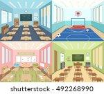isometric school 2x2... | Shutterstock .eps vector #492268990