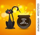 halloween party background... | Shutterstock .eps vector #492272923
