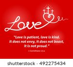 christian love background with... | Shutterstock .eps vector #492275434
