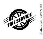 tires service icon. vector... | Shutterstock .eps vector #492279100