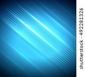 bright colorful neon striped... | Shutterstock .eps vector #492281326