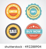 design stamps for sale  shares. ... | Shutterstock .eps vector #492288904
