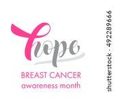 hope pink ribbon symbol for... | Shutterstock .eps vector #492289666