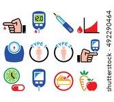 diabetes disease  health ... | Shutterstock .eps vector #492290464