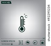 thermometer vector icon | Shutterstock .eps vector #492295234