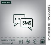 sms sign icon | Shutterstock .eps vector #492300553